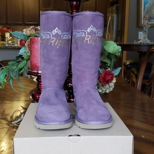 New Custom Bling Classic Tall purple Uggs 7